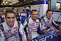 Sebastien Buemi, Stephane Sarrazin and Anthony Davidson Drivers of Toyota Racing's Toyota TS030 Hybrid (8669124882).jpg