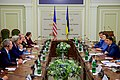 Secretary Kerry Listens to Remarks By Ukrainian Prime Minister Groysman at the Rada in Kyiv (28048321662).jpg