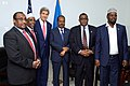 Secretary Kerry Stands with President Hassan Sheikh Mohamud, Prime Minister Omar Abdirashid Ali Sharmarke, and Three Regional Leaders in Somalia (17354857586).jpg