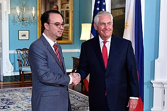 Alan Peter Cayetano - Cayetano with U.S. Secretary of State Rex Tillerson during the former's visit to Washington D.C., September 27, 2017
