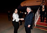 Secretary Tillerson is Greeted by Chargé d'Affaires Patricia L. Fietz (26371965368).jpg