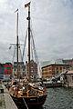 Segelschiff (Haikutter) HANSINE, Bremen, in Stralsund (2012-06-28), by Klugschnacker in Wikipedia.JPG
