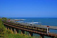 Series 209 running on Bosyu Bridge.JPG