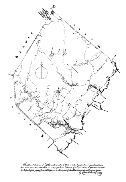 Sewall's Map of York, Maine, 1794 Sewall's Map of York, Maine, 1794.png