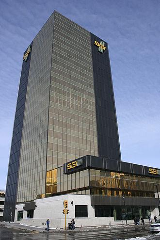 Saskatchewan Government Insurance - C.M. Fines Building - SGI Head Office in downtown Regina, Saskatchewan, Canada