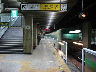 Sangwangsimni station - Image: Sgwgsmrs 03