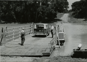 Sharkey County, Mississippi - Crossing the Sunflower River by ferry southeast of Rolling Fork, 1965