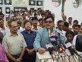Shatrughan Sinha Delivers Speech - Maritime Centre Inauguration - Science City - Kolkata 2003-10-17 00453.JPG