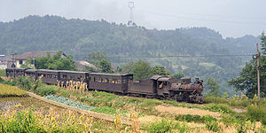 Narrow-gauge railways in China - Image: Shibanxi 10 01