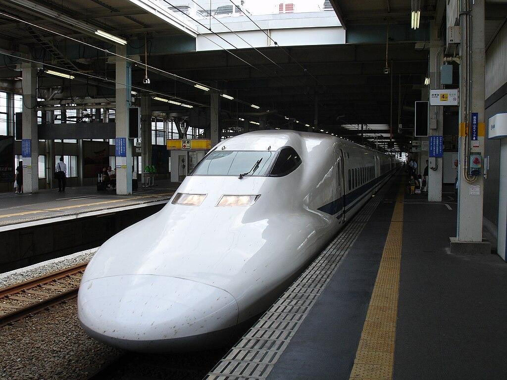 Shinkansen For Hakata at Hiroshima Station