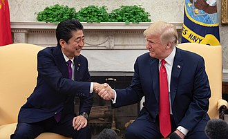 Japan–United States relations - Japanese Prime Minister Shinzō Abe with U.S. President Donald Trump in the White House, June 2018.