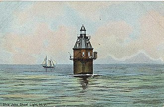 Ship John Shoal Light - Image: Ship john shoal light pre 1914