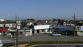 Shiraoka Station East side district.JPG