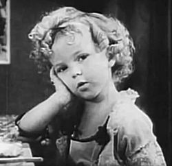 Shirley Temple i Glad Rags to Riches 1932.