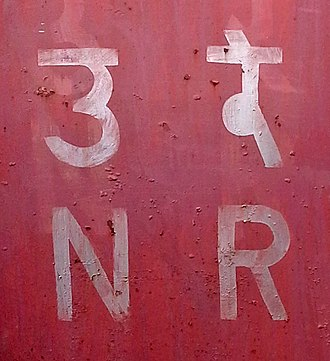 Northern Railway zone - Image: Shortened form of Northern Railway Zone of Indian Railways