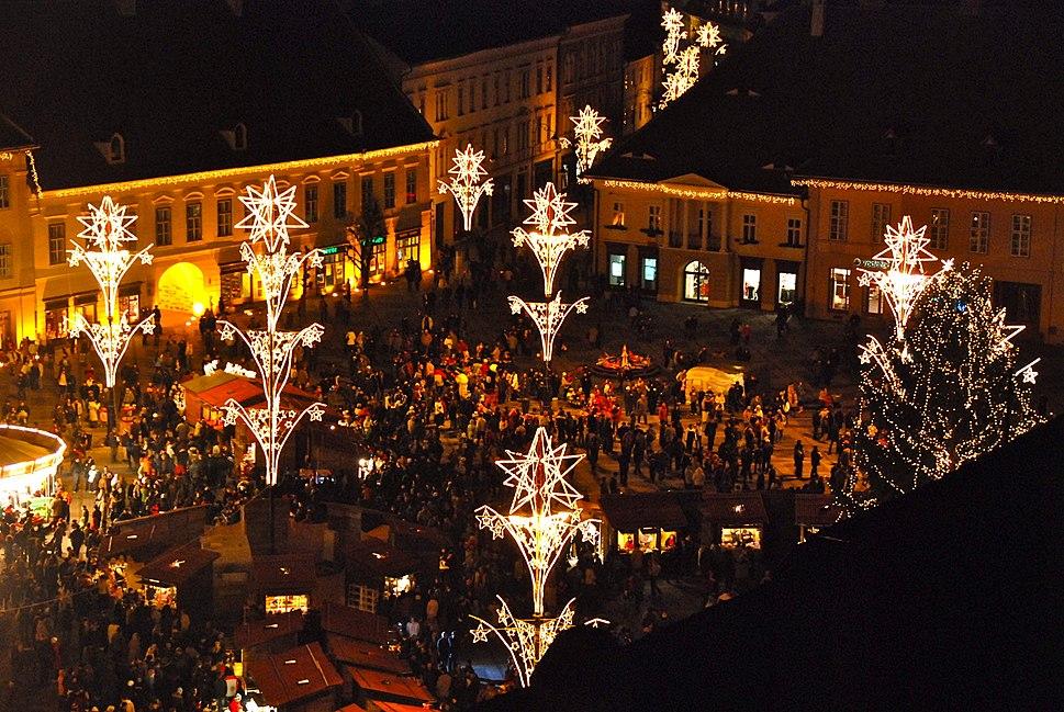 Sibiu Christmas Market opening 2008