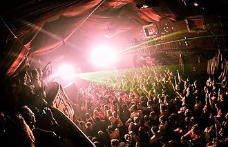 Nightlife - People enjoying the nightlife at a nightclub in Cape Town, South Africa