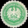 Siegelmarke Königliche Gärtner - Lehranstalt zu Dahlem bei Steglitz W0220065.jpg
