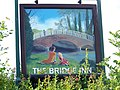 Sign for the Bridge Inn, Upper Woodford - geograph.org.uk - 1426930.jpg