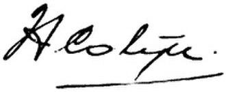 Hendrikus Colijn - Image: Signature Colijn