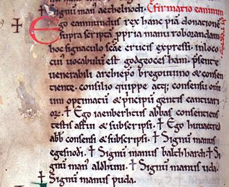 Eanmund of Kent - A twelfth-century copy of Eanmund's only known charter.