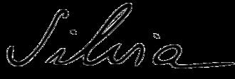 Queen Silvia of Sweden - Image: Signature of Queen Silvia of Sweden