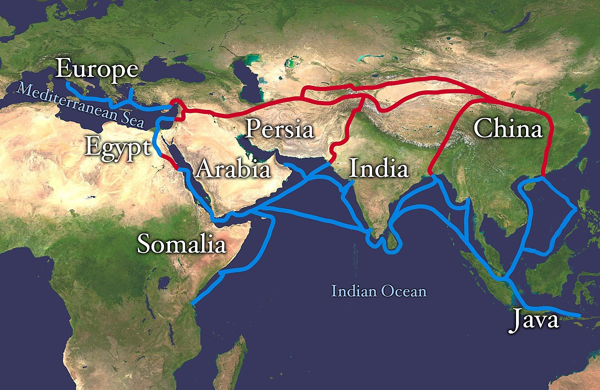 Silk Route Map Silk Road   Wikipedia