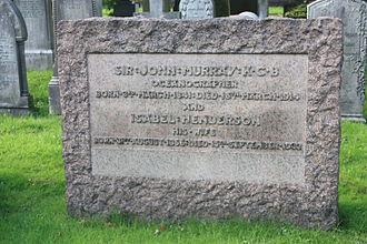 John Murray (oceanographer) - Sir John Murray's grave, Dean Cemetery