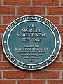 Sir Morell Mackenzie 1837-1892 founded the world's first hospital for diseases of the throat in a building on this site in 1865.jpg