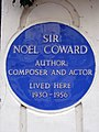 Sir Noël Coward author composer and actor lived here 1930-1956.jpg
