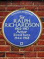 Sir Ralph Richardson 1902-1983 actor lived here 1944-1968.jpg