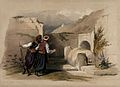 Site of the tomb of Joseph at Nablus. Coloured lithograph by Wellcome V0049416.jpg