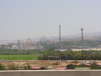 Six Flags Magic Mountain - Six Flags Magic Mountain from Interstate 5