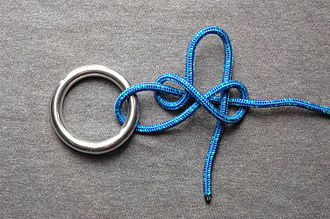 Bight (knot) - Image: Slipped buntline hitch ABOK 1712