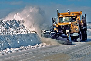 Winter service vehicle - A winter service vehicle clearing roads near Toronto, Ontario, Canada