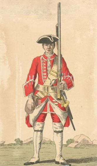 Duke of Wellington's Regiment - Soldier of 33rd regiment, 1742