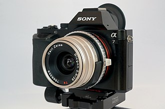 Sony E-mount - Sony α7 with an adapted Carl Zeiss Biogon 28mm F2.8 lens for Contax G mount.