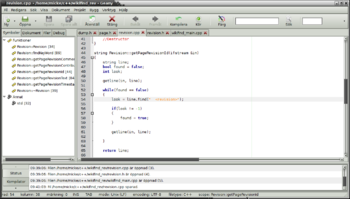 English: C++ source code for an (unfinished) p...
