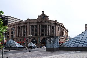 South Station from Dewey Square, August 2012.jpg