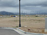 South at Daybreak Parkway station Park & Ride lot, Apr 16.jpg