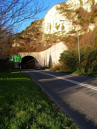 A26 road - Image: Southern Entrance, Cuilfail Tunnel geograph.org.uk 292058