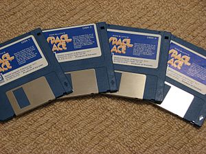 Space Ace - The Atari ST version of the game which used 4 floppy disks