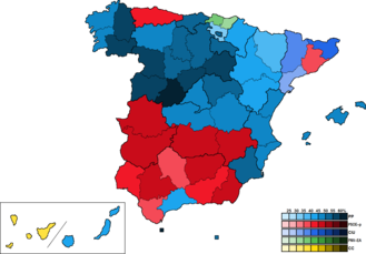 Spain (European Parliament constituency) - Image: Spain Province Map European 1999