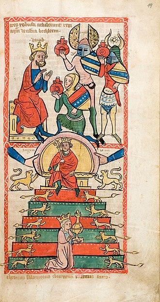 Throne of Solomon - Depiction of Solomon's throne