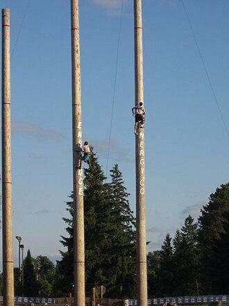 Lumberjack World Championship - Speed climbing