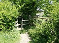 Squeeze stile south of Drewett's Mill - geograph.org.uk - 445885.jpg