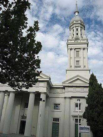 Presbyterian Church of Aotearoa New Zealand - Saint Andrew's (First) Presbyterian Church, Auckland, a congregation of the Presbyterian Church of Aotearoa New Zealand.