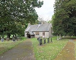 St Hychan's Church, Eglwys Llanychan, Rhuthun, Sir Ddinbych, Cymru, Wales 09.jpg