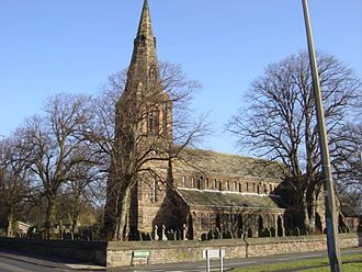 Grade II* listed buildings in Merseyside - Image: St Mary's Church, Knowsley