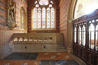 Albury, Surrey - South chapel of the old church including window by Augustus Pugin